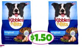 Kibbles 'N Bits Dog Food $1.50 at Winn Dixie!