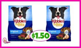Kibbles 'n Bits Dog Food $1.50 at Publix!