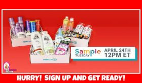 Make sure you are signed up for PRODUCT SAMPLE BOXES!
