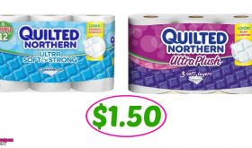 Quilted Northern Tissue Paper $1.50 each at Winn Dixie!