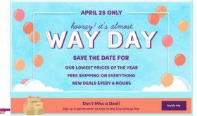 HUGE SALE at Wayfair April 25th get ready!