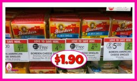 Borden Cheese Slices $1.90 at Publix!