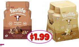 Fairlife Smart Milkshakes, 4 pack $1.99 at CVS!