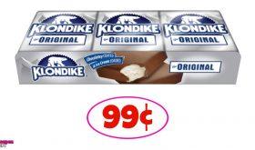 Klondike Bars 99¢ each for some at Winn Dixie!