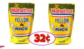 Mahatma Yellow Rice 32¢ each at Winn Dixie!