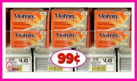 Motrin IB 20 count – 99¢ at Publix!