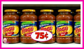 Ragu Sauces just 75¢ each at Publix!