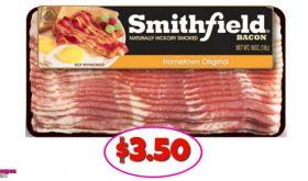 Smithfield Bacon – $3.50 at Winn Dixie after new printable!