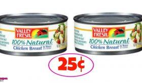 Valley Fresh Chicken Breast – 25¢ each at Winn Dixie