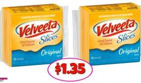 Velveeta Cheese Slices – $1.35 at Winn Dixie for some