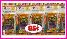 BiC Mechanical Pencils 10pk 85¢ at Publix!