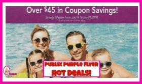 Publix Purple Flyer Hot Deals July 14th – July 27th!