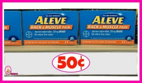 Aleve Products 50¢ at Publix!  Plus Movie Ticket Rebate!
