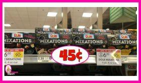 Dole Mixations 4 pack 45¢ each at Publix!