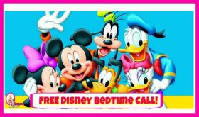 Disney Bedtime Call for kids!  Its totally FREE and super cute!