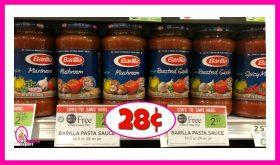 Barilla Pasta Sauce 28¢ each at Publix!