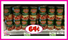 Del Monte Tomatoes 64¢ each at Publix!