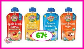 Earths Best Organic Baby Food 67¢ each at Publix!