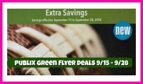 Publix GREEN Advantage Flyer September 15th – 28th!