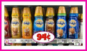 International Delight Coffee Creamer 94¢ at Publix!