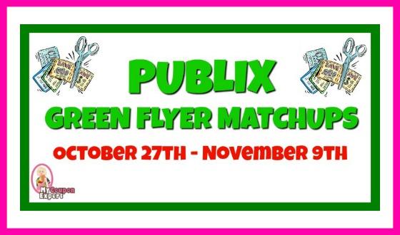 Publix GREEN Flyer Matchups October 27th – November 9th!