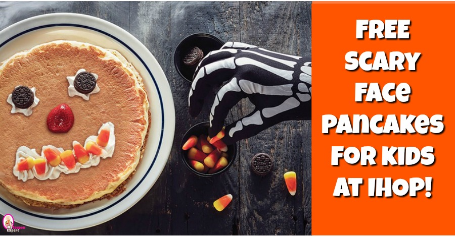 Free Scary Face Pancakes for Kids at IHOP October 31st!