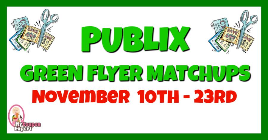 Publix Green Flyer HOT DEALS & Coupon Matchups!