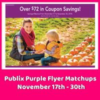 Publix PURPLE Flyer Matchups November 17th – 30th!