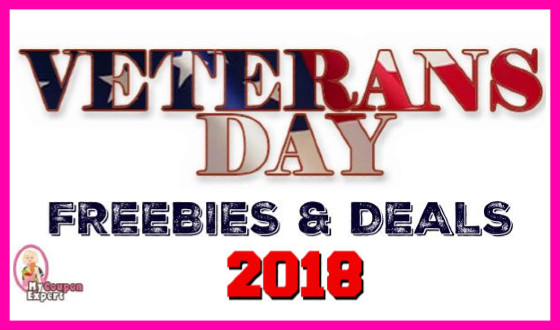 Veterans Day 2018 Freebies & Discounts!  Check it out!