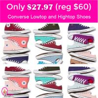 Converse Chuck Taylor Hightops or Lowtops $27.97 (reg $60)!  RUN!