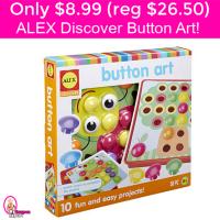 Only $8.99 (reg $26.50) ALEX Discover Button Art!!