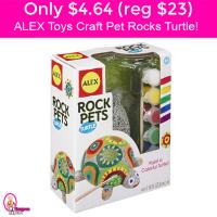 Only $4.64 (reg $23) ALEX TOYS Craft Pet Rock Turtle Kit!