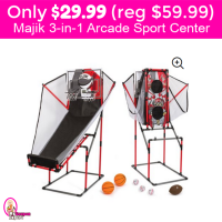 Only $29.99 (reg $59.99) Majik 3-in-1 Arcade Sport Center!