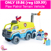 HURRY!  Paw Patrol Terrain Vehicle $9.86 (reg $39.99)!