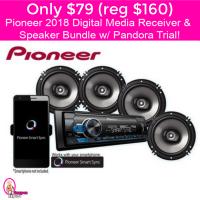 Only $79 (reg $160) Pioneer Digital Media Receiver, Speakers and Pandora Bundle!