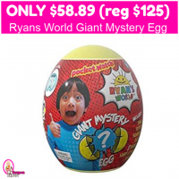 Ryan's World Giant Mystery Egg Only $58.89 (reg $125)!