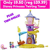Disney Princess Twirling Tower with two dolls just $9.50 (reg $39.99)!!!  GOOOO!!