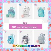 JUSTICE Mini Backpacks Only $10.00 (reg $24.90) TODAY ONLY!