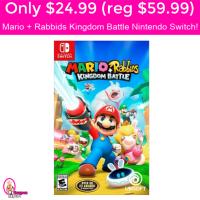 Only $24.99 (reg $59.99) Mario + Rabbids Kingdom Battle for Nintendo Switch!