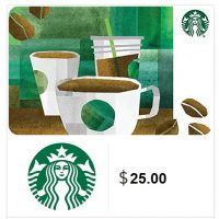 Get a FREE $5 Amazon Gift Card wyb a $25 Starbucks E-Gift Card!!