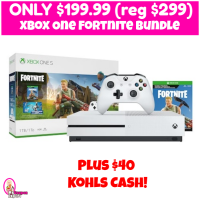 Xbox One Fortnite Bundle $199.99 (reg $299) plus $40 Kohl's Cash!