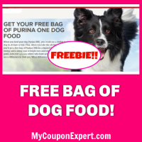 Free Purina One Dog Food Bag!  Hurry!