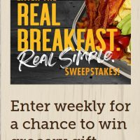 HURRY!  Smithfield Real Breakfast Sweepstakes!