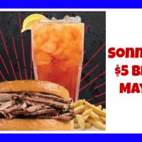 Sonny's BBQ Sliced Pork Big Deal just $5.00 on May 1 6th!